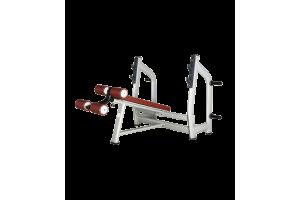 BRONZE GYM H-024 Скамья для жима с отрицательным наклоном (КОРИЧНЕВЫЙ)