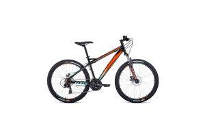Велосипед 26' Forward Flash 26 2.2 disc Черный/Оранжевый 20-21 г