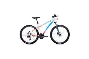 Велосипед 26' Forward Flash 26 2.2 disc Белый/Голубой 20-21 г