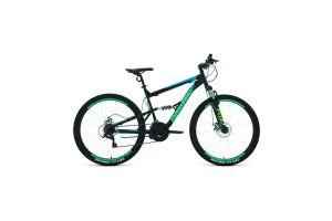 Велосипед 27,5' Forward Raptor 27,5 2.0 disc Черный/Бирюзовый 20-21 г